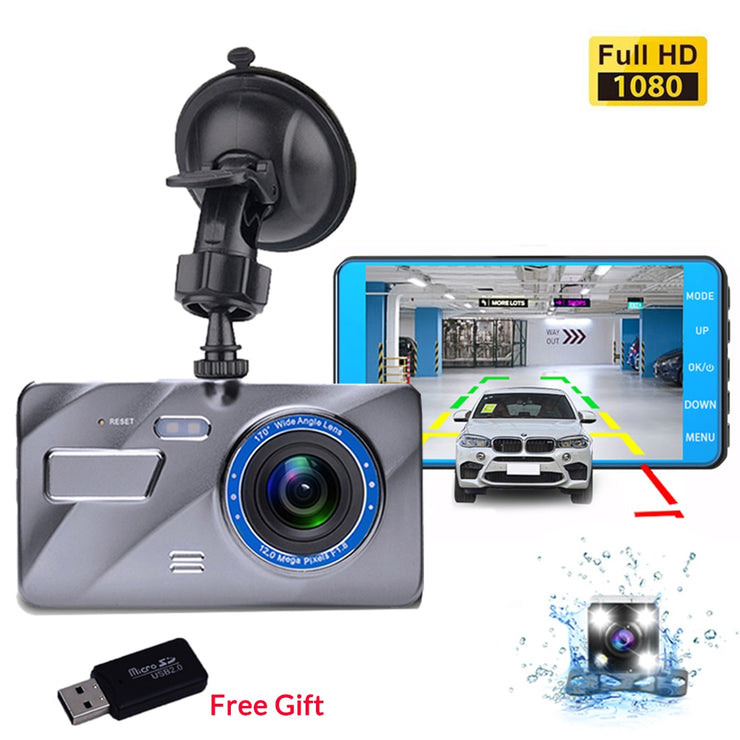 Dual 1080P IPS Front+Rear Dash Cam
