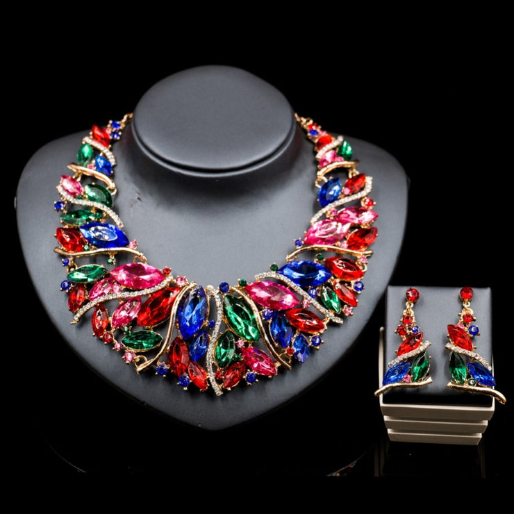 African style  engagement necklace and earrings