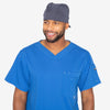 Grey's Anatomy Classic unisex steel fitted scrub cap with back tie. Elastic sides. Soft-touch 4-way stretch fabric.