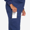 Barco Essentials unisex navy scrub pants. 4 pockets. Elastic waist with drawcord. Stay-fresh fabric.