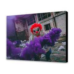 Clown With Purple Smoke