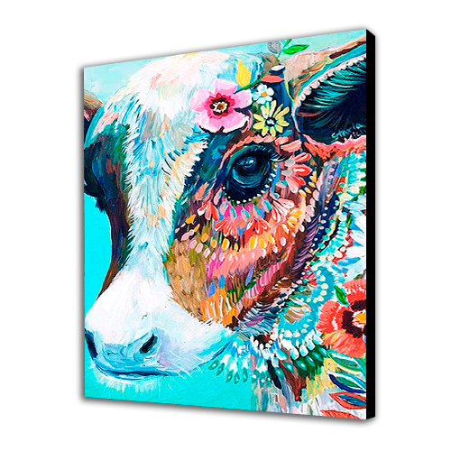 Cow in Flowers
