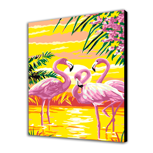 Bright Flamingos