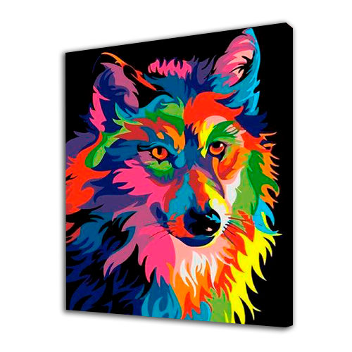 Colorful Wolf