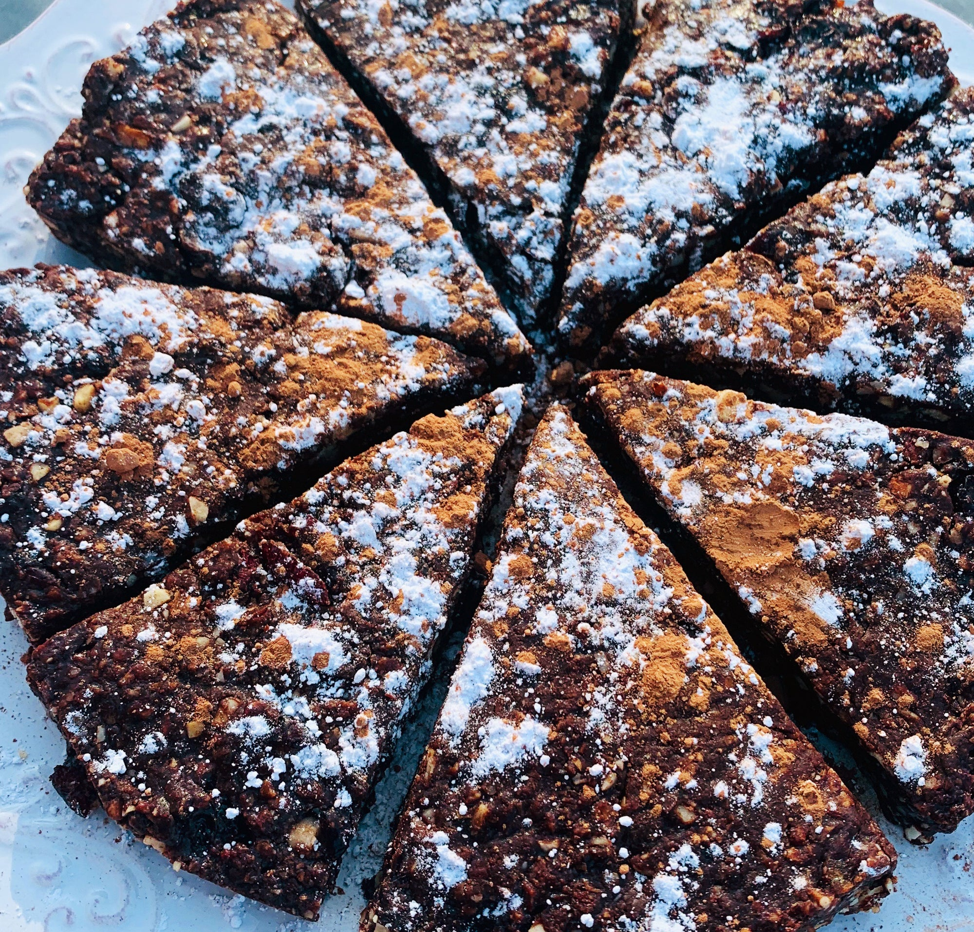 Vegan Chocolate Panforte Cake