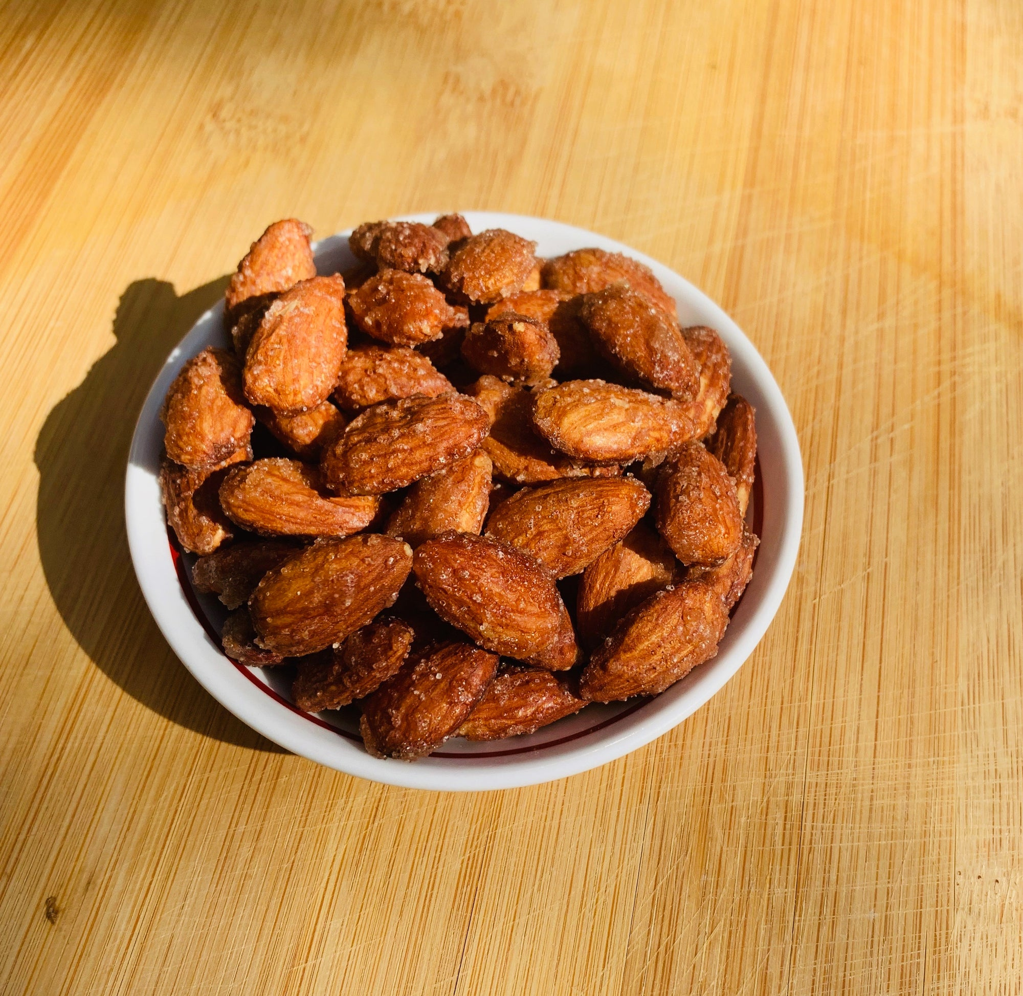 Maple Cinnamon Candied Sprouted Almonds (Vegan + Paleo)