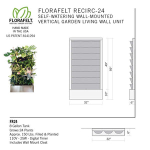 Florafelt Recirc 24-Pocket Wall-Mounted