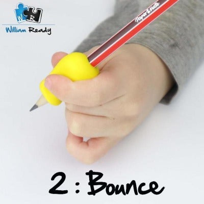 Bounce pencil grip