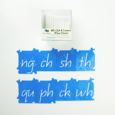 QLD Diagraphs and Punctuation Stencils Kit