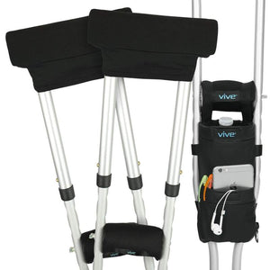 Crutch Pouch and Grip Cover