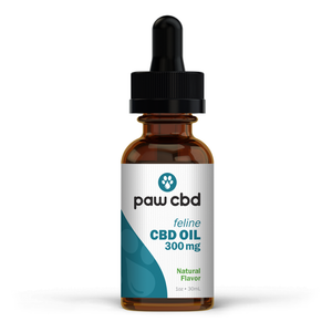 Pet CBD Oil Tincture for Cats - Natural - 300 mg - 30 mL