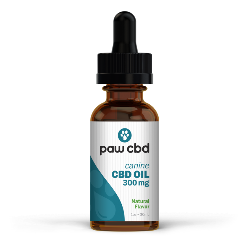 Pet CBD Oil Tincture for Dogs - Natural - 300 mg - 30 mL