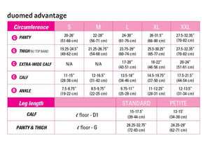 Duomed Advantage 30-40 mmHg calf open toe petite