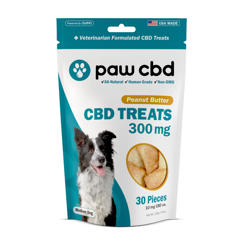 Pet CBD Oil Treats for Dogs - Peanut Butter - 300 mg - 30 Count