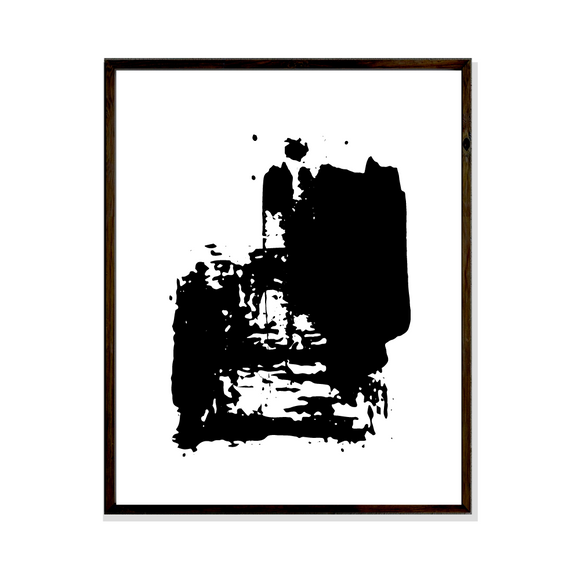 abstract art black and white collection artwork