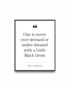 Fashion Poster Quote Karl Lagerfeld
