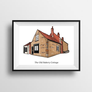Personalised Custom Bespoke Home House Portrait Poster Print