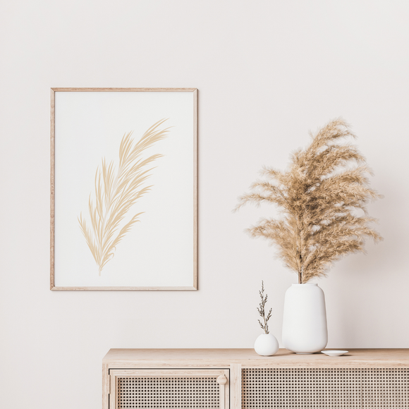 Simple Minimalist Pampas Collection #1 Floral Poster Print Art Work