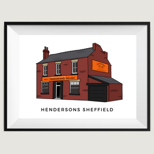 Hendersons Relish Factory poster print