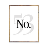 No home house number home art print