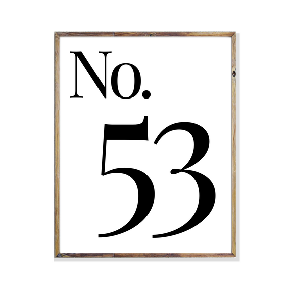 personlised home house number home art print