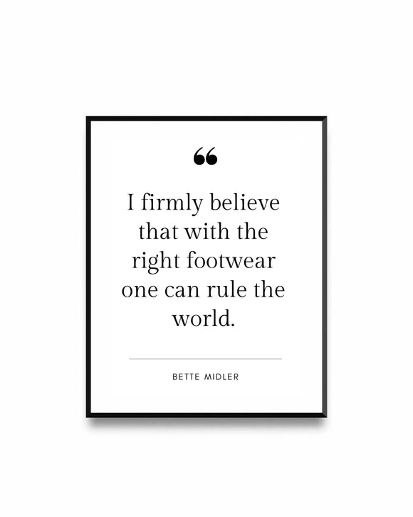 Fashion Poster Quote Bette Midler
