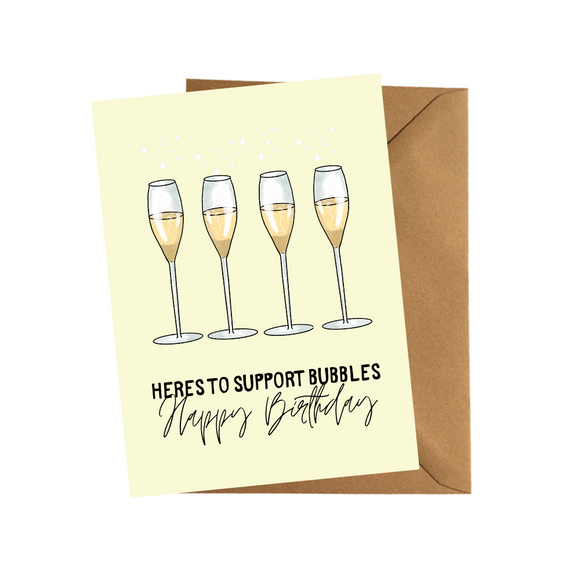 Support Bubble Funny Birthday Card Lockdown