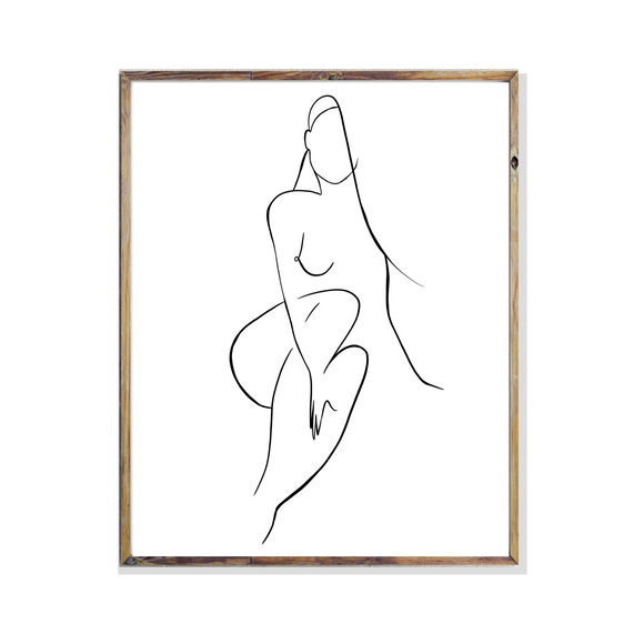 Female Body Line Art Illustration Print poster artwork