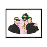 Drawing Friends Digital Portrait Bespoke Artwork Handdrawn Print Portrait
