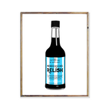 Sheffield Wednesday Football hendersons relish bottle poster print wall art