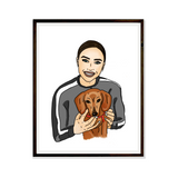 Drawing Blogger Digital Portrait Bespoke Artwork Hand drawn Print Portrait