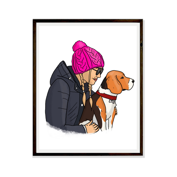 Drawing Pet Digital Portrait Bespoke Artwork Hand drawn Print Portrait