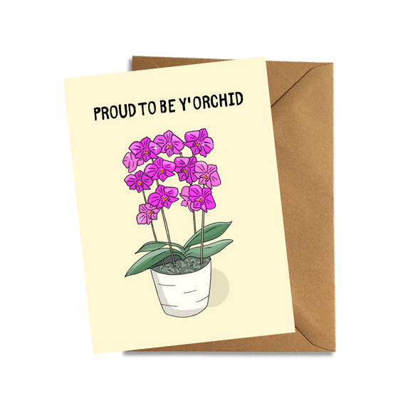 Proud To Be Y'Orchid Mothers Day Card Cute