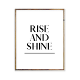 rise and shine bedroom artwork poster print wall art