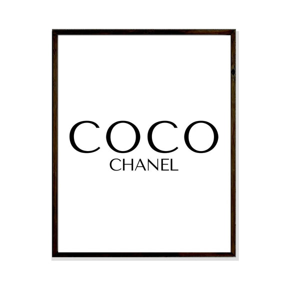 coco chanel poster print fashion art