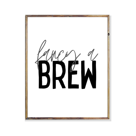 sheffield saying dialect fancy a brew kitchen poster print