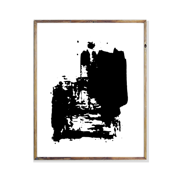 Black Paint Stroke Minimalist Collection 1 Wall Art Poster Print