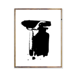 Black Paint Stroke Minimalist Collection  Wall Art Poster Print