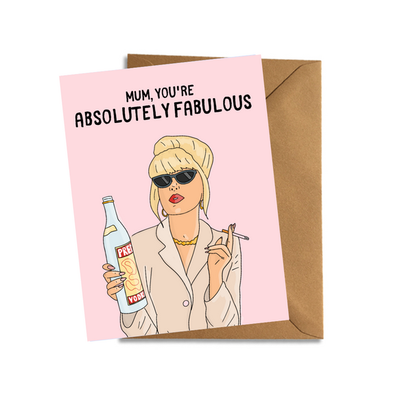 absolutely ab fab patsy stone mothers day card birthday