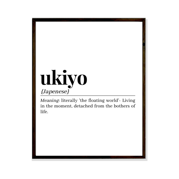 ukiyo japenese meaning definition poster print