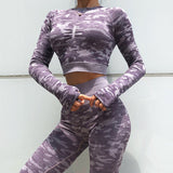 WRUN LONG SLEEVE CAMO SET