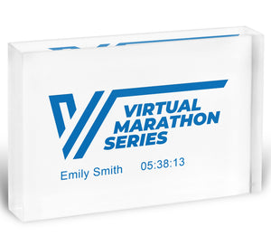 Virtual Marathon Series Acrylic Block - Personalisation Available