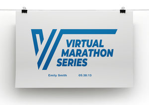 Virtual Marathon Series Logo A4 Poster - Personalisation Available