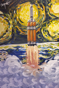 Delta IV Leaving Our Atmosphere - Acrylic