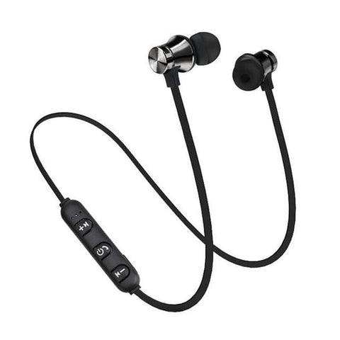 K3N VENTURES Black Magnetic Wireless Bluetooth Earphone