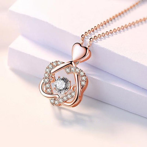K3N VENTURES Neckpiece Rose Gold Smart Heart Shaped Necklace