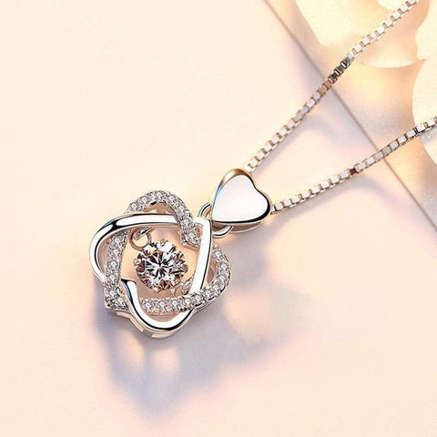 K3N VENTURES Neckpiece Silver Smart Heart Shaped Necklace