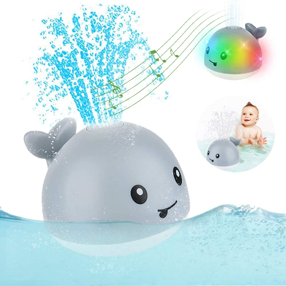 Showix™ Sprinkler Whale Bath Toy With LED Light
