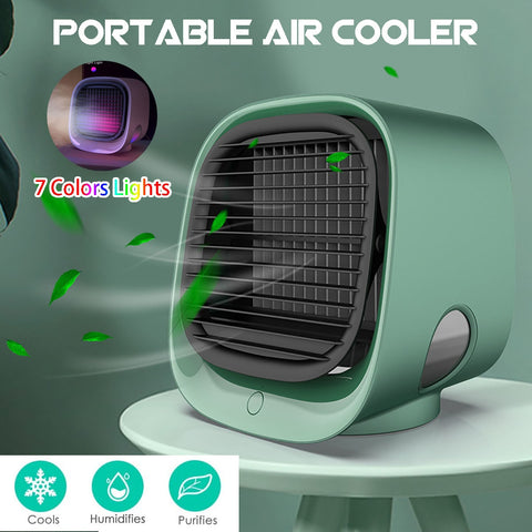 Mini Portable Air Cooler + Humidifier + Night Light - CRAZY DISCOUNT DEALS