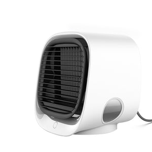 Open image in slideshow, Mini Portable Air Cooler + Humidifier + Night Light